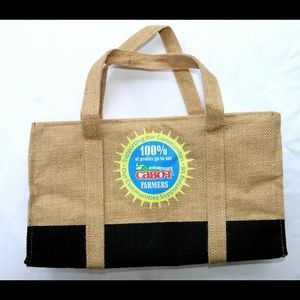Cabot Dairies Bags - Cabot Burlap & Buffalo Plaid Lined, Insulated Tote